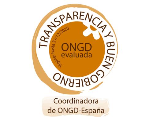 La CONGDE nos otorga el sello 'ONGD evaluada'